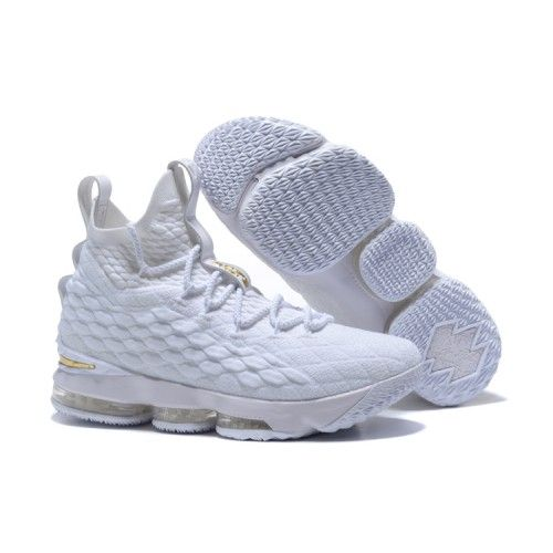 Sale 2016 lastest released Nike Lebron 15 Cheap 2017 Men Nike Lebron 15  Basketball Shoes White on our website, best service and fast shipping are  for lebron ...