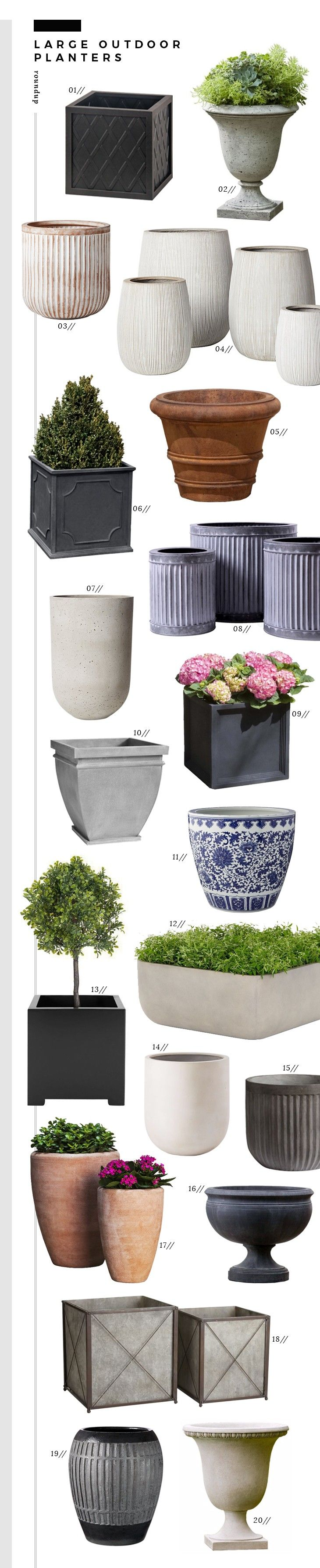 Roundup : Large Outdoor Planters - Room for Tuesday