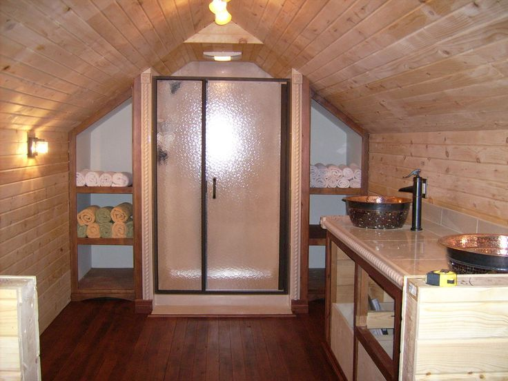 From Attic To Master Suite Unfinished Attic Was Converted Into A Living Oasis Complete With Full Bathroom An Attic Master Suite Attic Renovation Attic Remodel