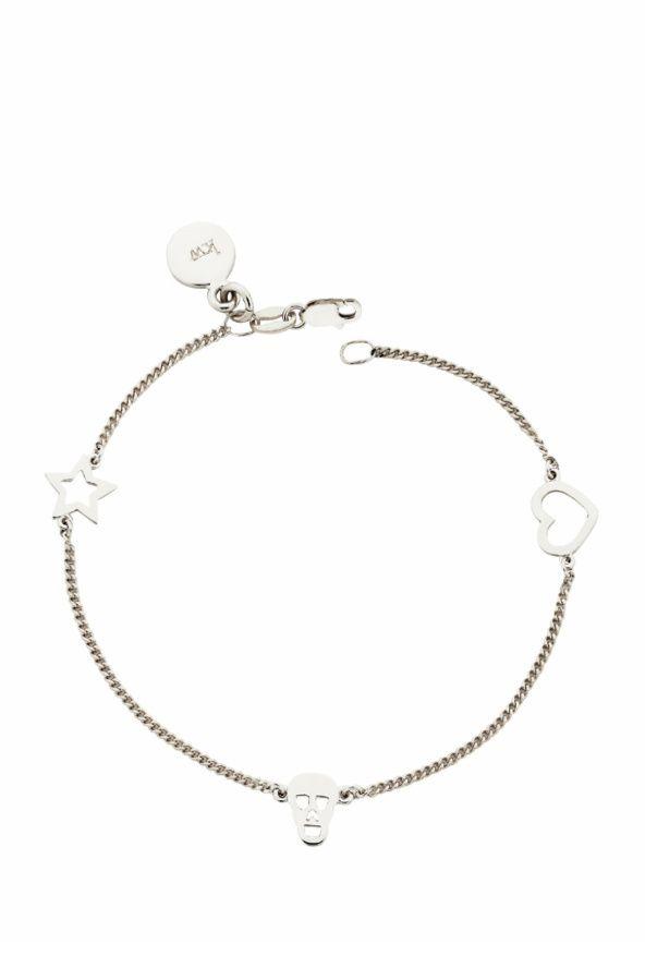 b10ebf366d8d Mini Charm Bracelet in Silver by Karen Walker
