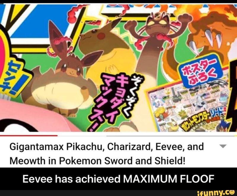 Gigantamax Pikachu Charizard Eevee And Meowth In Pokemon Sword