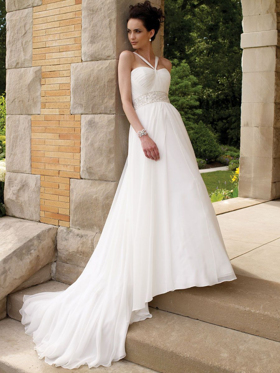Halter a line bridal gown with soft draped chapel train skirt so halter a line bridal gown with soft draped chapel train skirt so ombrellifo Gallery