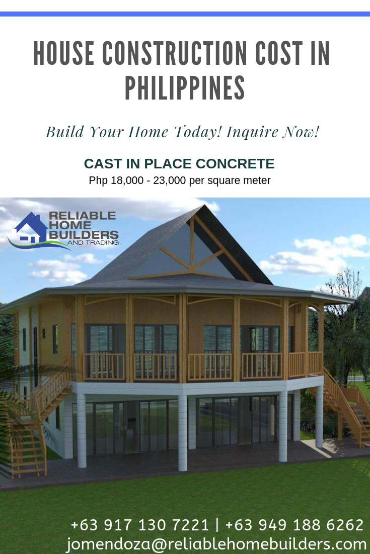 Cast In Place House Construction Cost In Philippines Construction Cost Home Construction Construction
