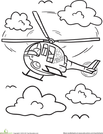 Helicopter Coloring Page  Coloring Coloring pages and Helicopters