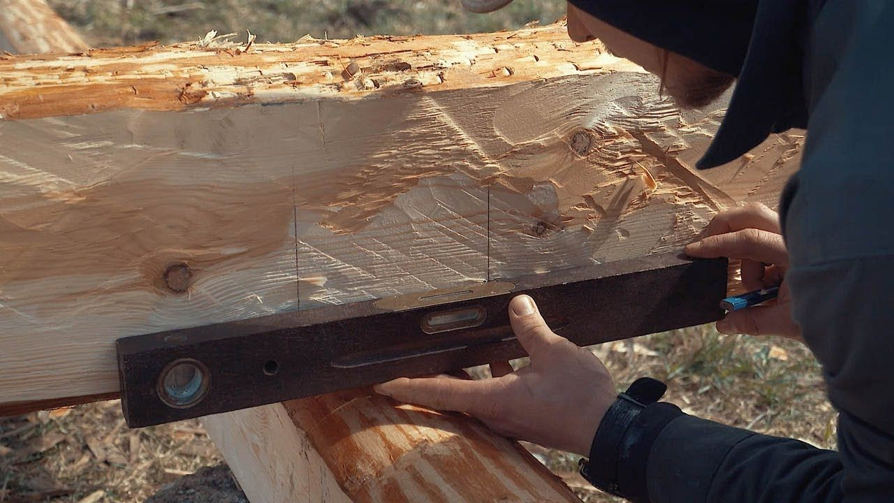 How To Build A Log Cabin Simple Straight Lap Notch From