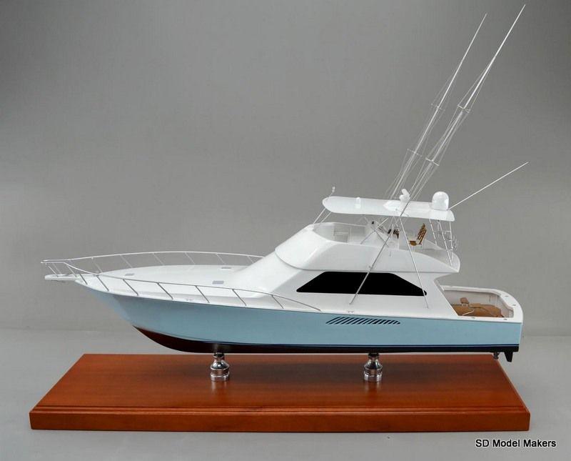 36 inch replica model of a viking 63 sport fishing boat if for Model fishing boats