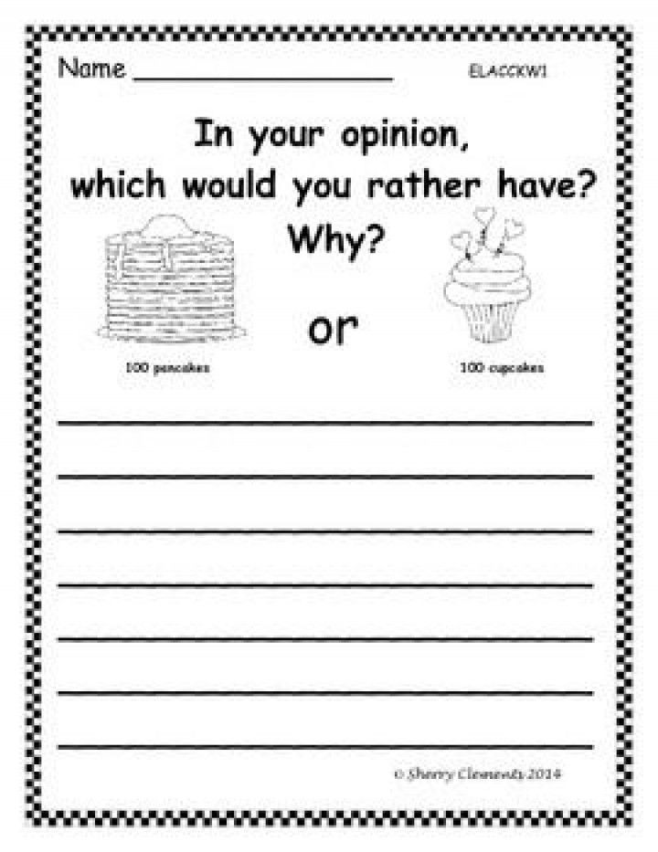 Editorial writing activity for preschool