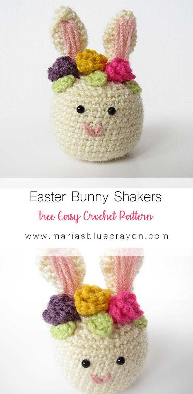 Crochet Easter Bunny Shaker - Free Pattern | Amigurumi itp ...