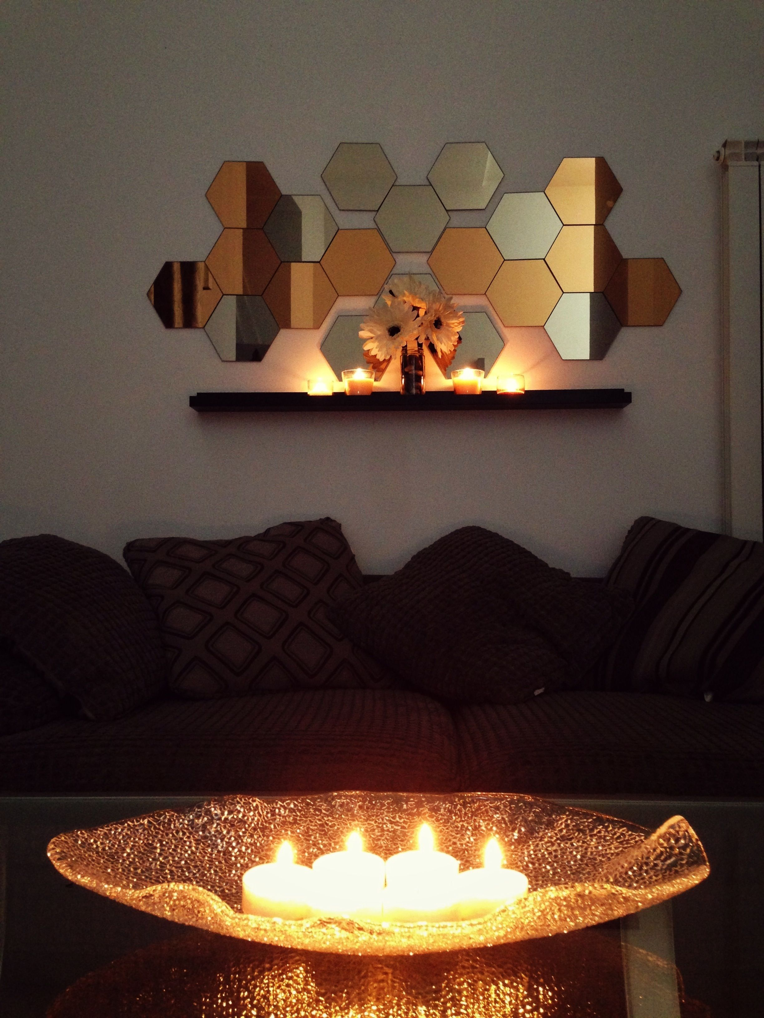 My Diy Honefoss Mirror From Ikea Candles In Fireplace Decor