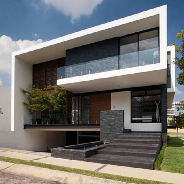 Moderno dise o en el revestimientos de paredes con - Casas prefabricadas guadalajara ...