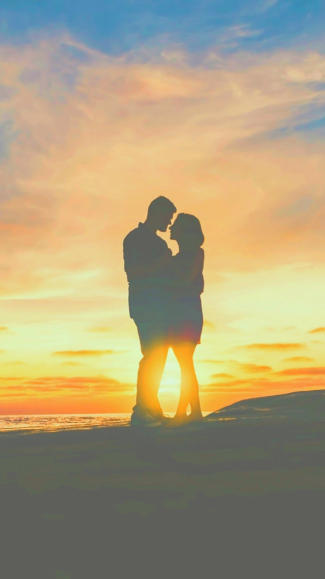 Couples In Sunset Love Hd Wallpapers 1080x1920 Wallpaper 1080x1920 Hd Wallpaper 1080x1920 Love Hd Wallpaper Hand shaped love wallpaper in sunset