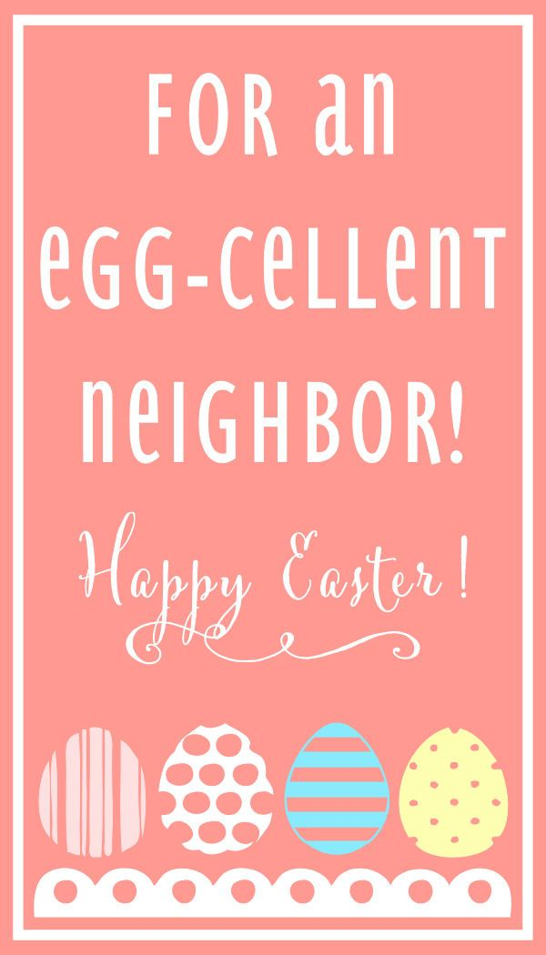 Egg cellent neighbor pink miscellaneous pinterest easter cute simple and sweet egg cellent easter gift idea negle Choice Image