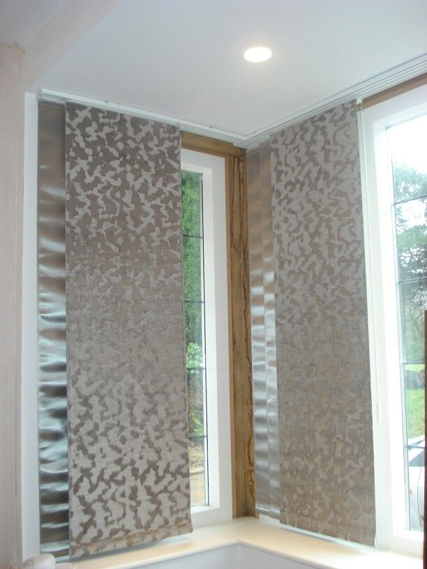 Sliding Fabric Panels In Stunning Harlequin Fabrics For A Bay Window Designed By Www