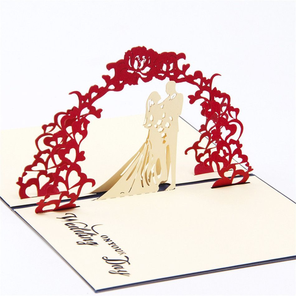 3d Pop Up Engagement Wedding Card Romantic Invitation Card Greeting Card Wedding Cards Pop Up Greeting Cards Handmade Wedding