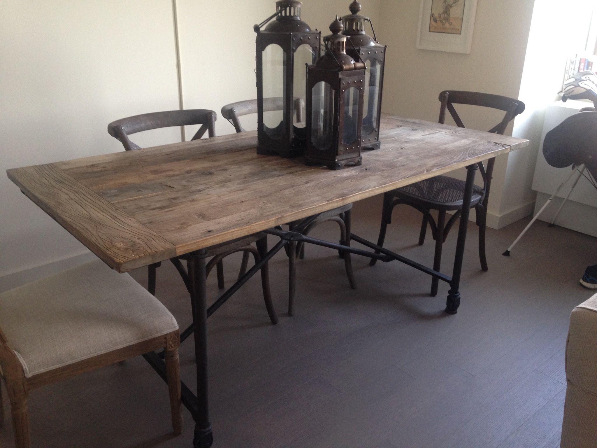 460 Restoration Hardware Flatiron Table Originally Paid 745 Tax  # Restoration Hardware Muebles