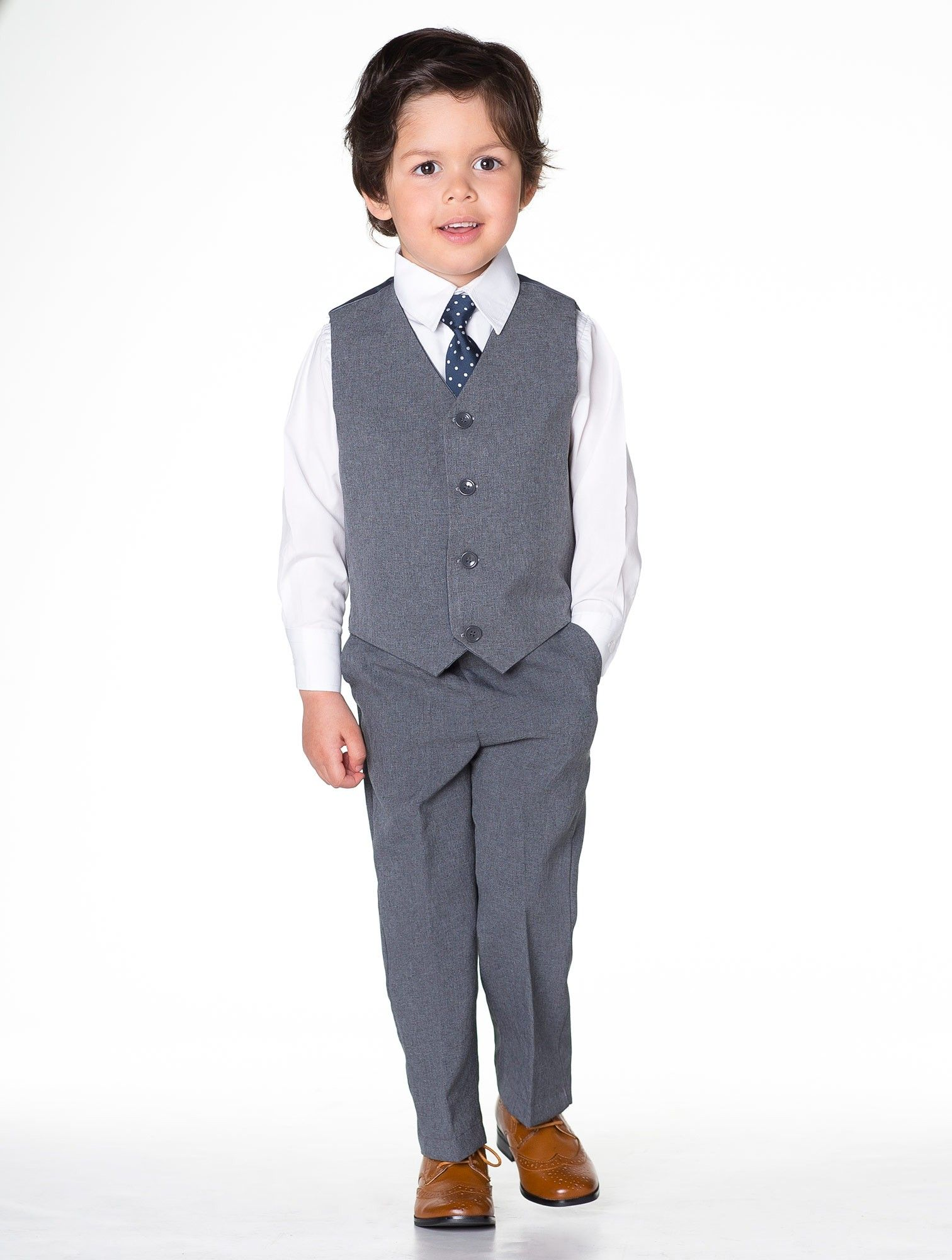 Boys grey suit - Bertie | Boys wedding suits, Wedding suits and ...