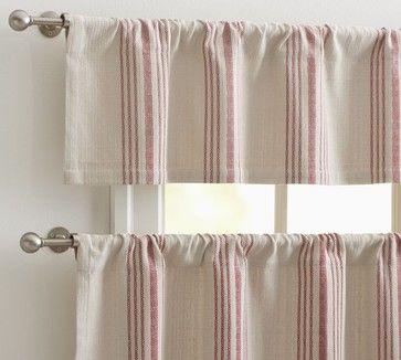 Window French Stripe Cafe Curtain
