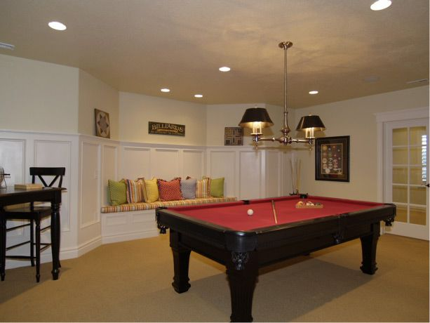 In A Basement Or Rec Room It S A Good Idea To Include Seating