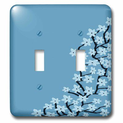 3drose Pretty Flower Blossom Print 2 Gang Toggle Light Switch Wall Plate In 2021 Light Switch Art Light Switch Covers Diy Light Switch