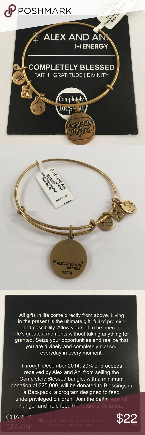 Alex And Ani Completely Blessed Authentic Bracelet Brand New With Tageaning Card Jewelry Bracelets