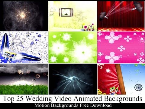 Top 25 Wedding Video Animated Backgrounds | Motion Backgrounds ...