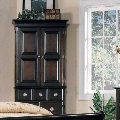 HANGING ROD INCLUDED Yuan Tai Furniture Marlon Armoire This Yuan Tai  Furniture Product Is Available In A Marlon Cappuccino Finish.