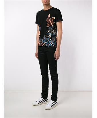 SAINT LAURENT - Eagle and Tiger Print T-Shirt