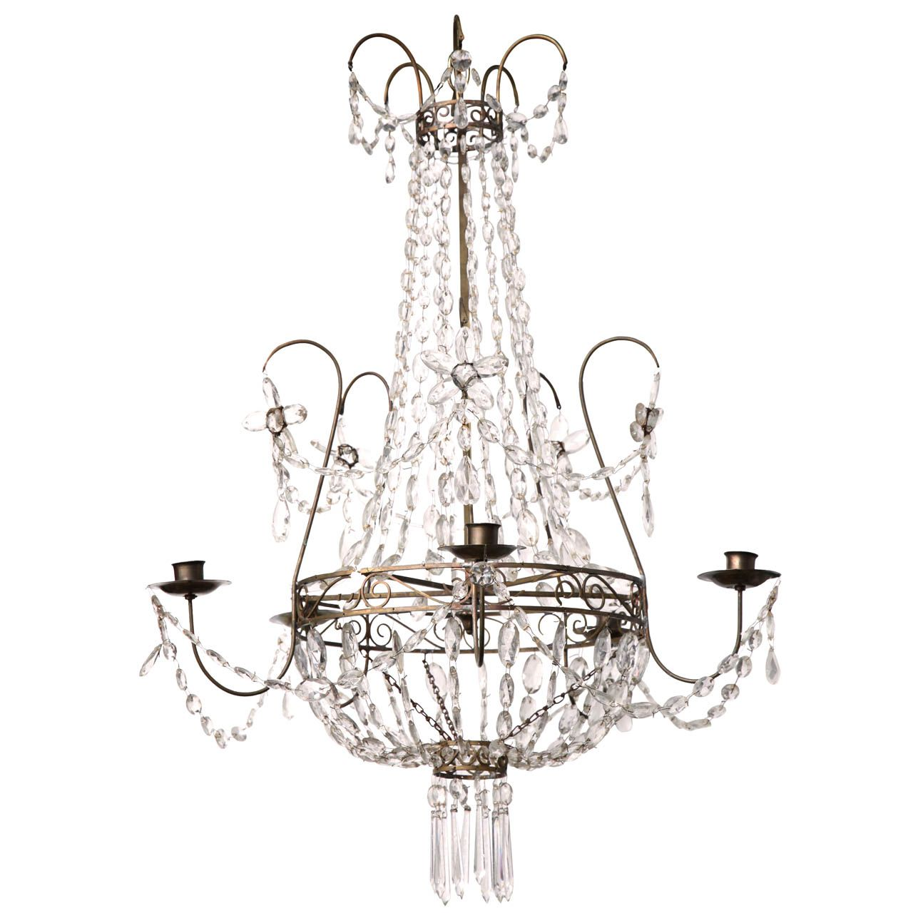 Early 19th century swedish crystal chandelier chandeliers pendant early 19th century swedish crystal chandelier from a unique collection of antique and modern chandeliers arubaitofo Image collections
