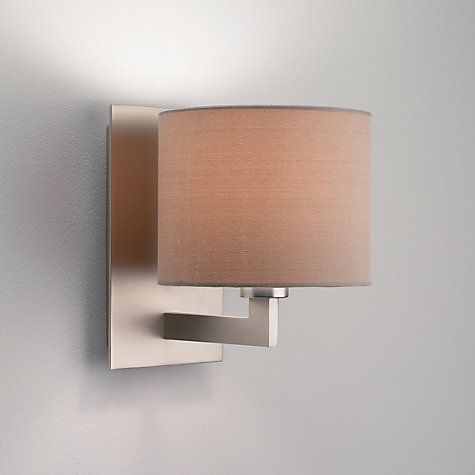 Buy astro olan wall light with silk shade nickeloyster online at buy astro olan wall light with silk shade nickeloyster online at johnlewis aloadofball Image collections