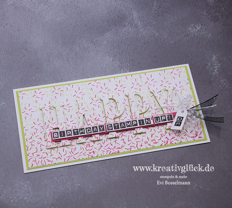 Gdp163 Happy Birthday Stampin Up 30 Jahre Geburtstagskarte