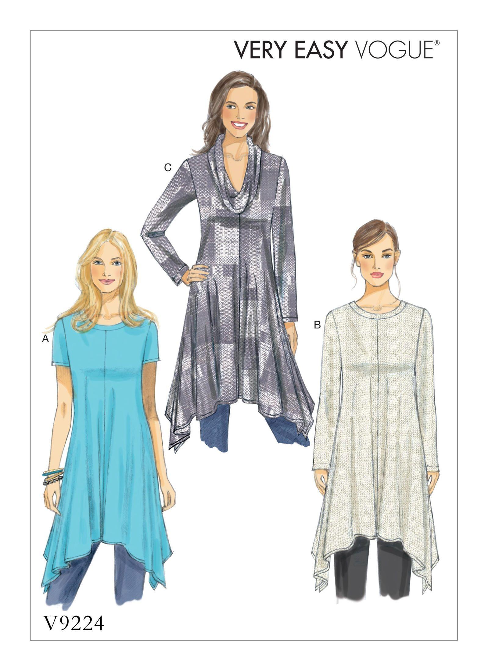 V9224 | Vogue Patterns | plus patterns | Pinterest | Handarbeiten ...