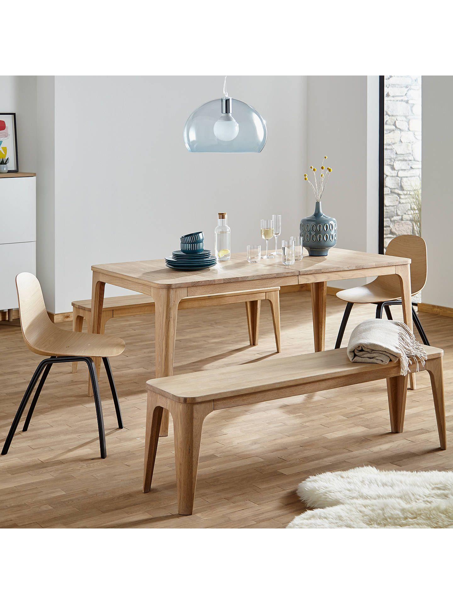 d5a777e8e8d9 BuyEbbe Gehl for John Lewis Mira 3-Seater Dining Bench, Oak Online at  johnlewis.com. Buy Oak Ebbe ...