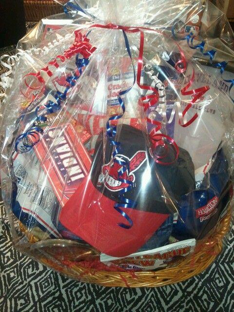 Cleveland Indians Gift Basket Gift Baskets Pinterest