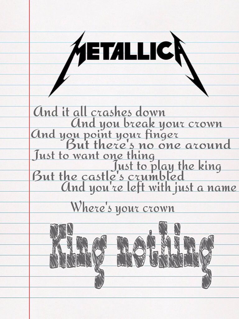 Metallica King Nothing lyrics Metallica lyrics