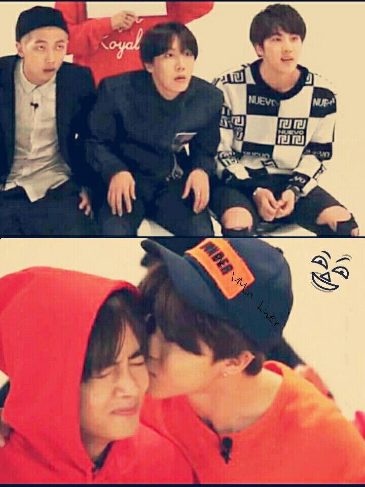 VMin BTS V and Jimin Moment kiss :D @BTS Gayo Track7 | BTS