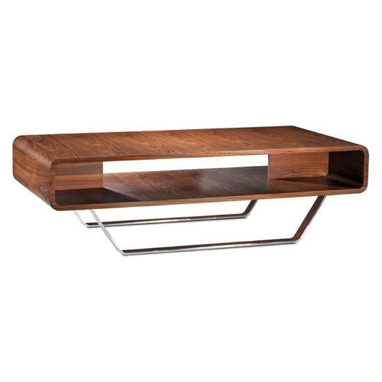 The Caro Coffee Table Has A Mid Century Design And Is Availalble In Natural Walnut With Chrome Legs Coffee Table Table Copenhagen Furniture