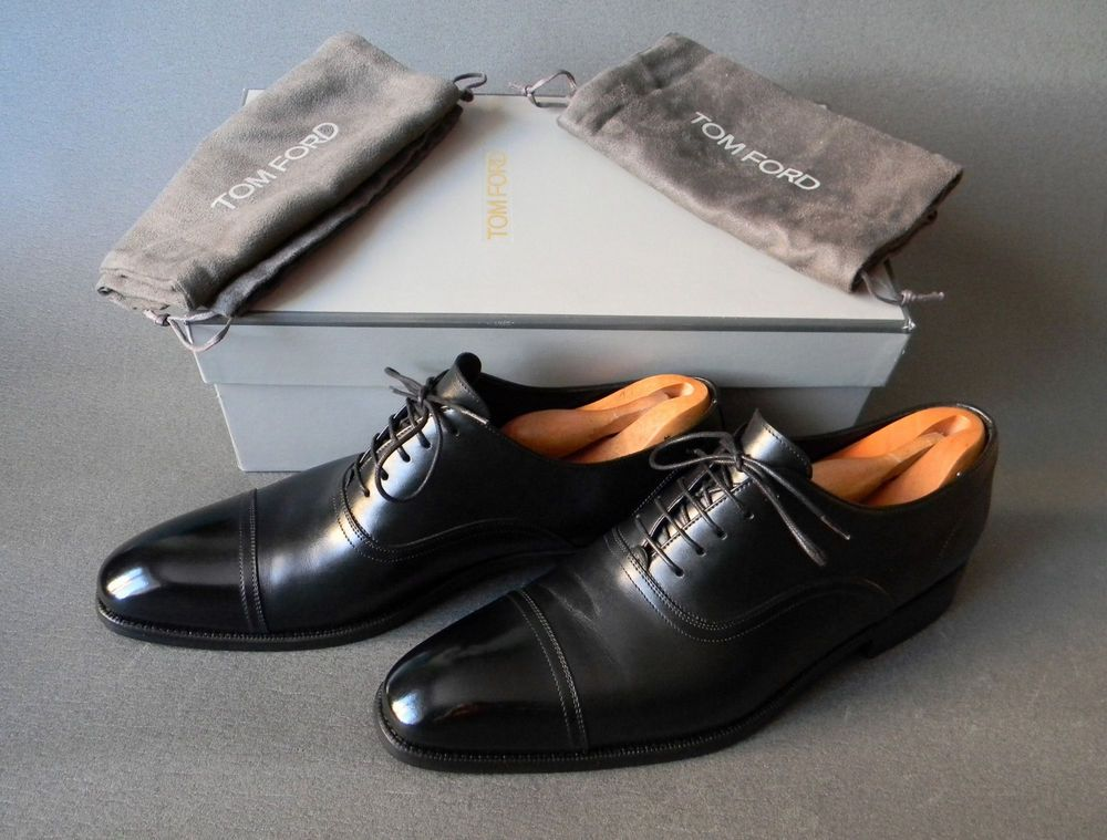 cb015724639 eBay  Sponsored Tom Ford Classic Cap Toe Oxfords Mens Shoes 8.5US 41.5EU 7.5
