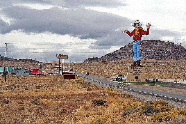 Wendover, UT-Lived for 3 months...this is the view into West Wendover, NV.