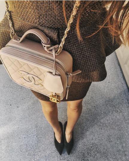 79bbfc2ff70b Chanel Beige CC Filigree Vanity Case Small Bag 6 | Prioritize N ...