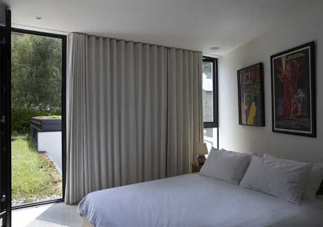 recessed ceiling window curtain track - google search | window