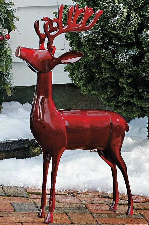 Road To Christmas  Cast 2020 Cast aluminum Deer | Grandin Road in 2020 | Animated christmas