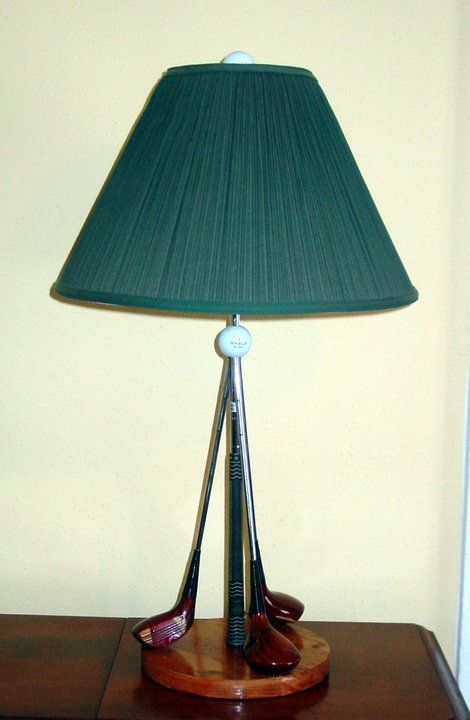 Table lamp from 25 new uses for your old golf clubs fairway table lamp from 25 new uses for your old golf clubs aloadofball Gallery