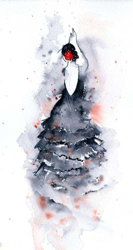 Rachel Mcnaughton Flamenco 2 Sujets De Peinture Peinture A L