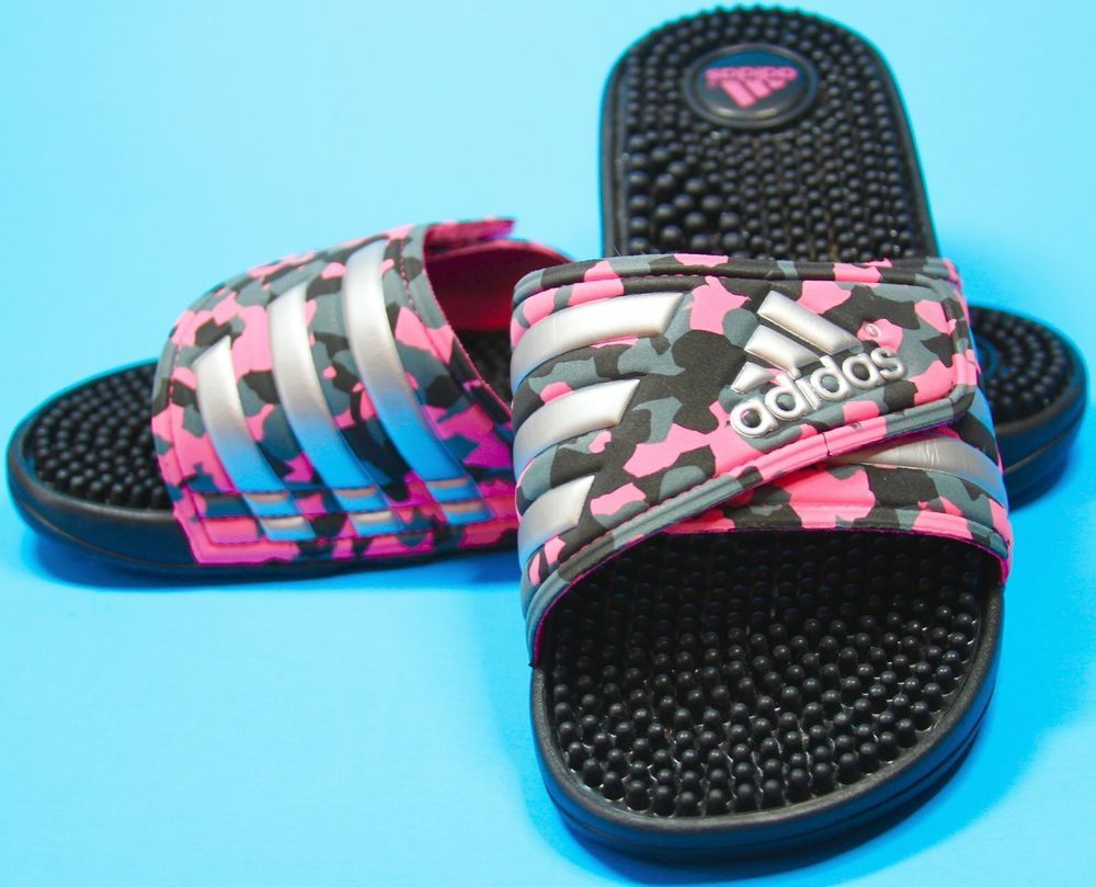 Size Womens Camouflage 7 Adissage Adidas New Non Pink Sandals Slides qqHCO