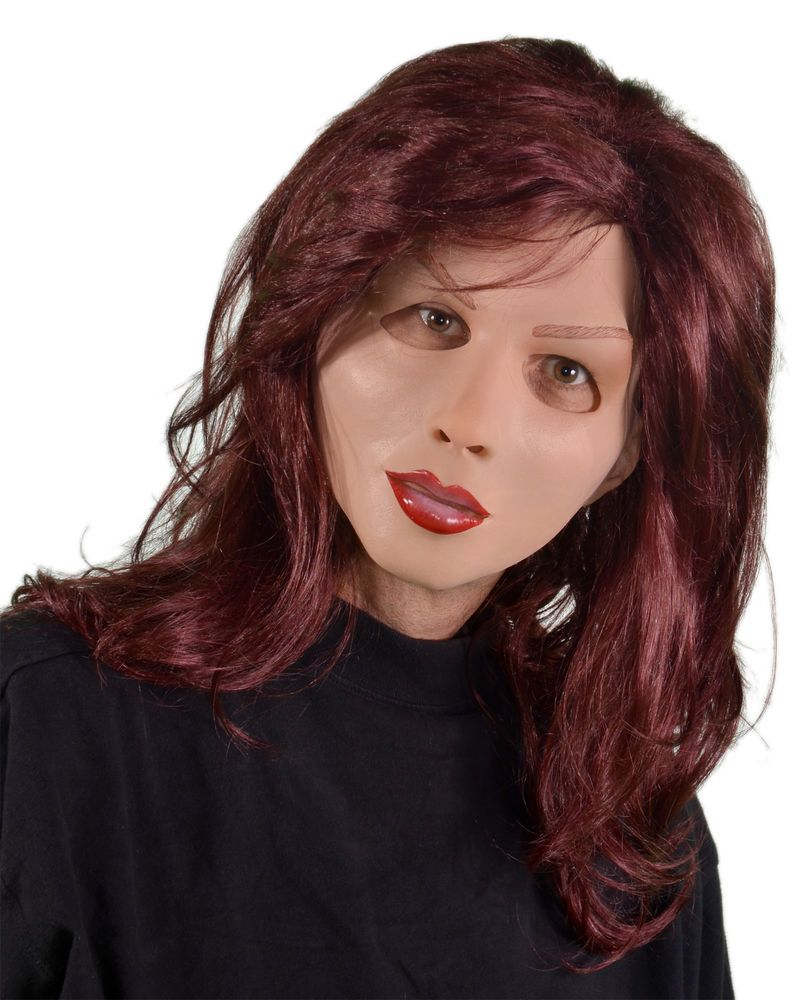 Red Head Supersoft Soft & Sexy Female Woman Latex Halloween Mask ...