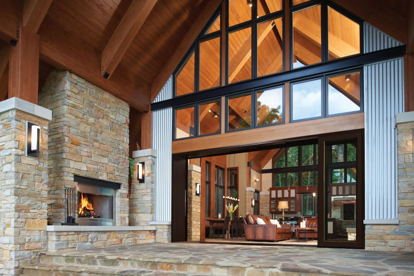 Open Wider With Large Format Windows Doors Remodeling Exterior Doors With Glass Architecture Marvin Doors