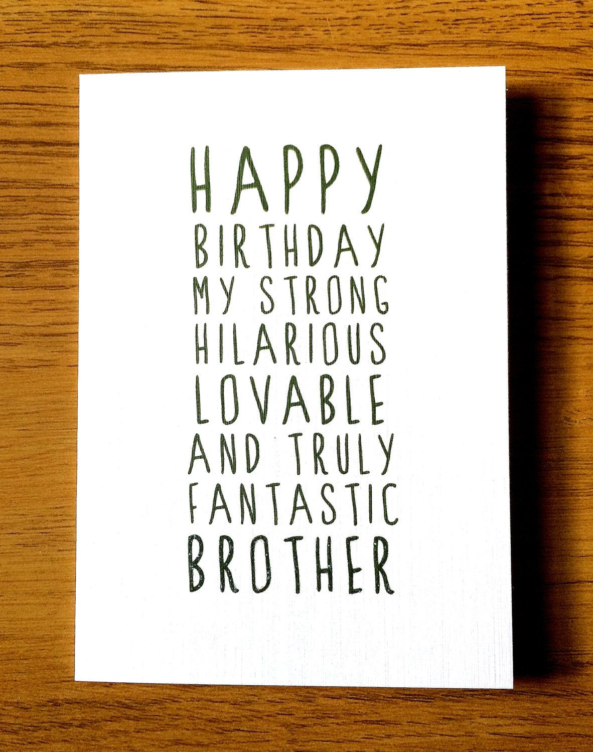 Sweet description happy birthday brother card card for brother happy birthday kristyandbryce Gallery