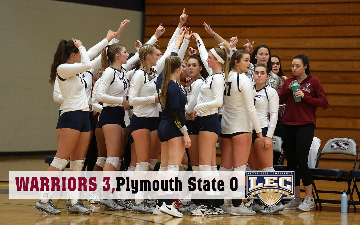A Sweep Of Plymouth State Friday Night At Geissler Gymnasium Moved The Warriors Temporarily Into Sole Possession Of T Women Volleyball Plymouth State Warrior