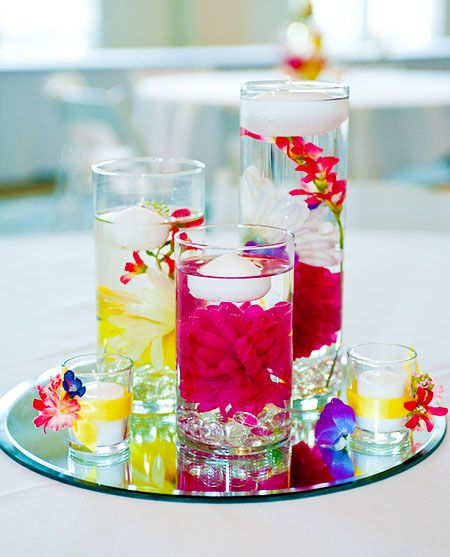 Floating Candles Centerpieces Ideas For Weddings: Floating Candle Centerpieces