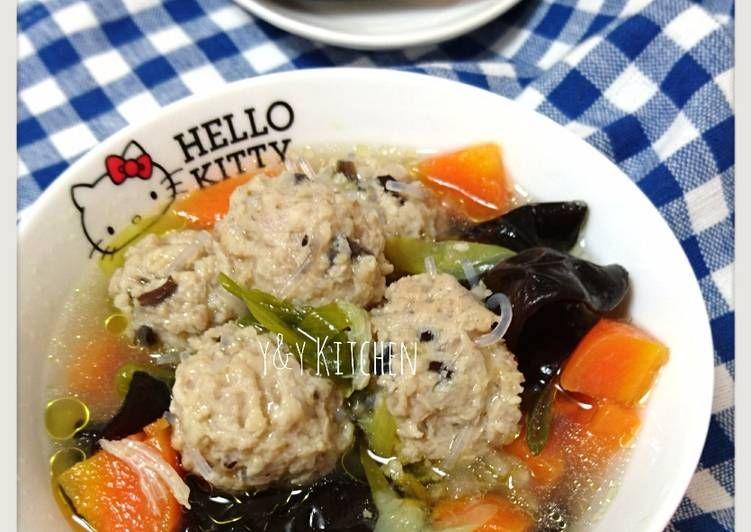 Resep Sop Baso Rambut Jamur Kuping Oleh Yny Resep Resep Masakan Asia Resep Makanan